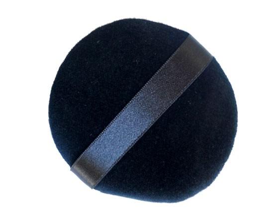 Quaste 4,3cm genäht schwarz Bela (mini)