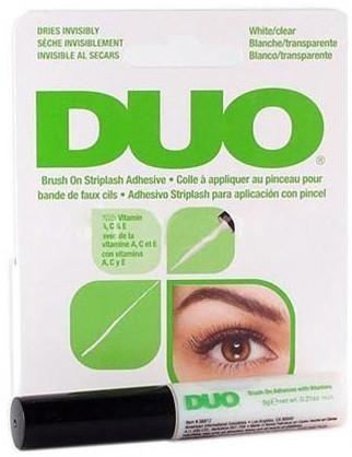 Duo - Wimpernkleber Brush On White/Clear Grün 5g