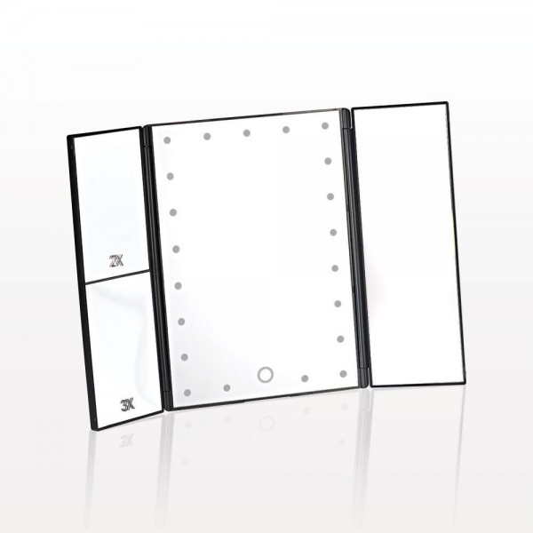 Spiegel mit LED aufklappbar für den Tisch