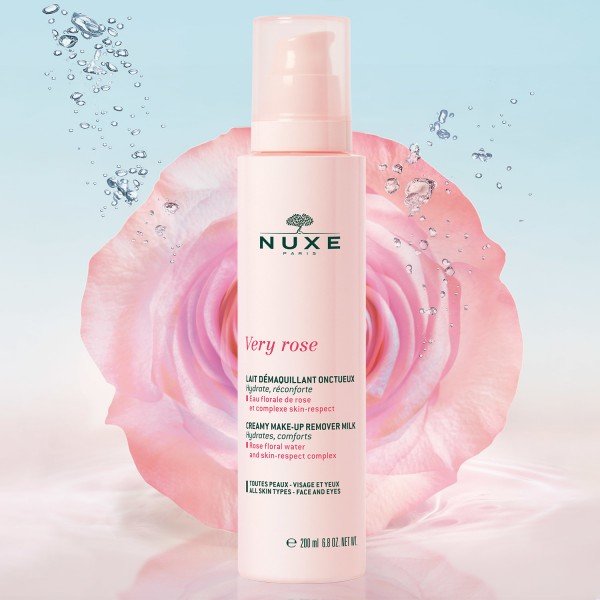 NUXE - Very Rose - Lait Demaquillant Onctueux, 200ml