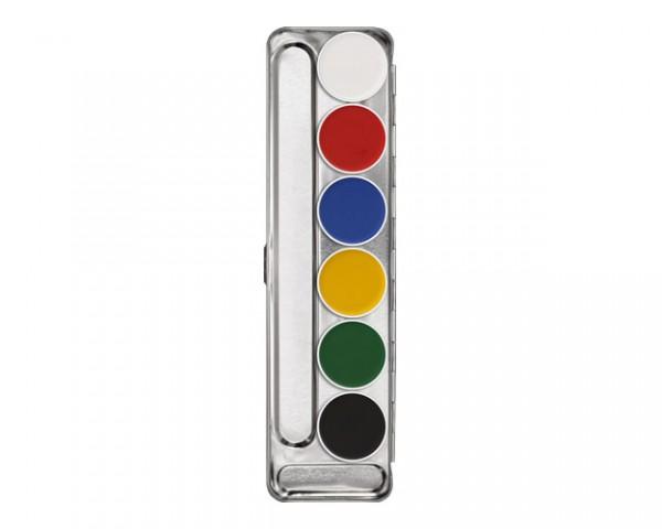 Kryolan Aquacolor Palette 6 Farben (V)