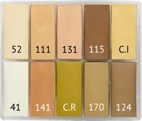 Maqpro TF1 SLIM 10er Palette Fard Creme 15ml