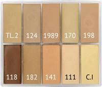 Maqpro - EUROPE - SLIM 10er Palette Fard Creme, 15ml
