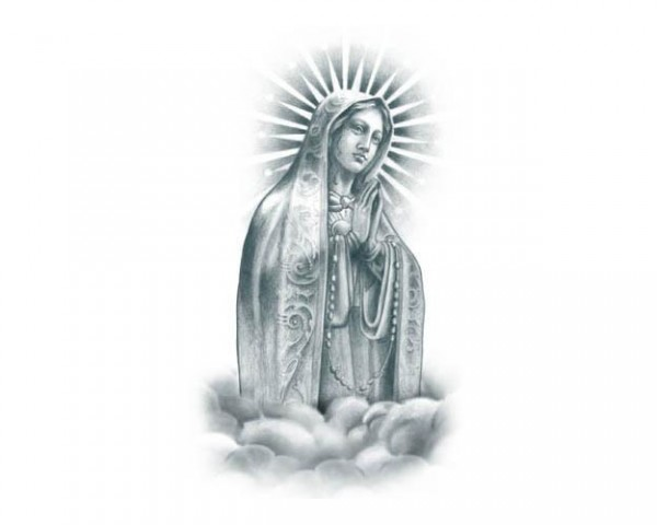 Tattooed!Now! Praying Virgin Mary