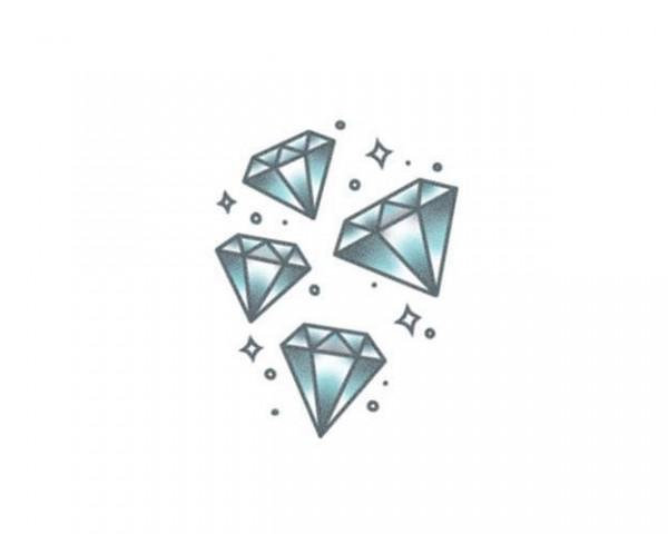 Tattooed!Now! Blue Lucky Diamonds
