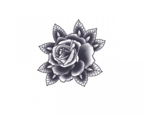Tattooed!Now! Black Rose