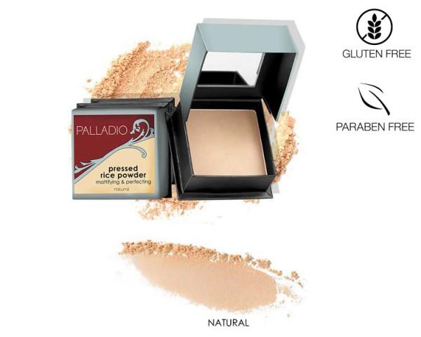 Palladio - Rice Pressed Powder Natural, 7,25g
