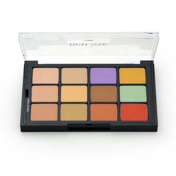 Ben Nye - STP15 Studio Palette Concealer & Adjusters, 12er Palette