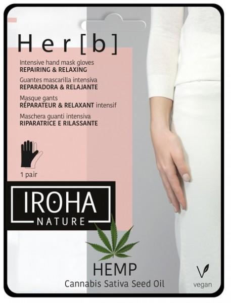 Iroha - Hemp - Hand Mask Gloves, 1 Paar
